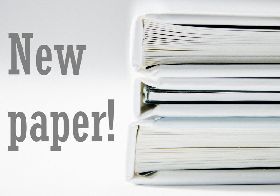 """Image of publications and text reading """"new paper!"""""""
