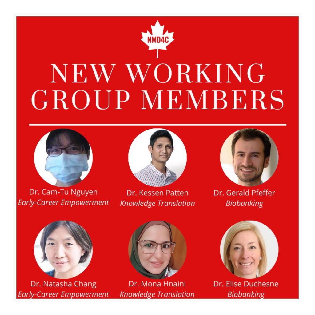 new WG members